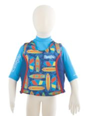 Puddle Jumper® Kids 2-in-1 Life Jacket and Rash Guard, Surfboards image 1