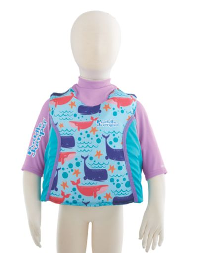 Puddle Jumper® Kids 2-in-1 Life Jacket and Rash Guard, Whales