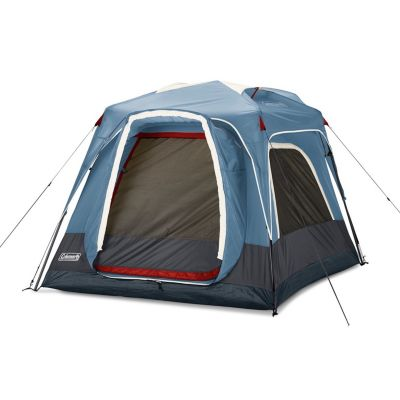 3-Person Connectable Tent with Fast Pitch Setup, Blue