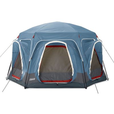 6-Person Connectable Tent with Fast Pitch Setup, Blue