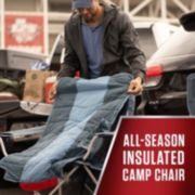 All-Season Folding Camp Chair with Removable Insulated Cover, Dusk image 3