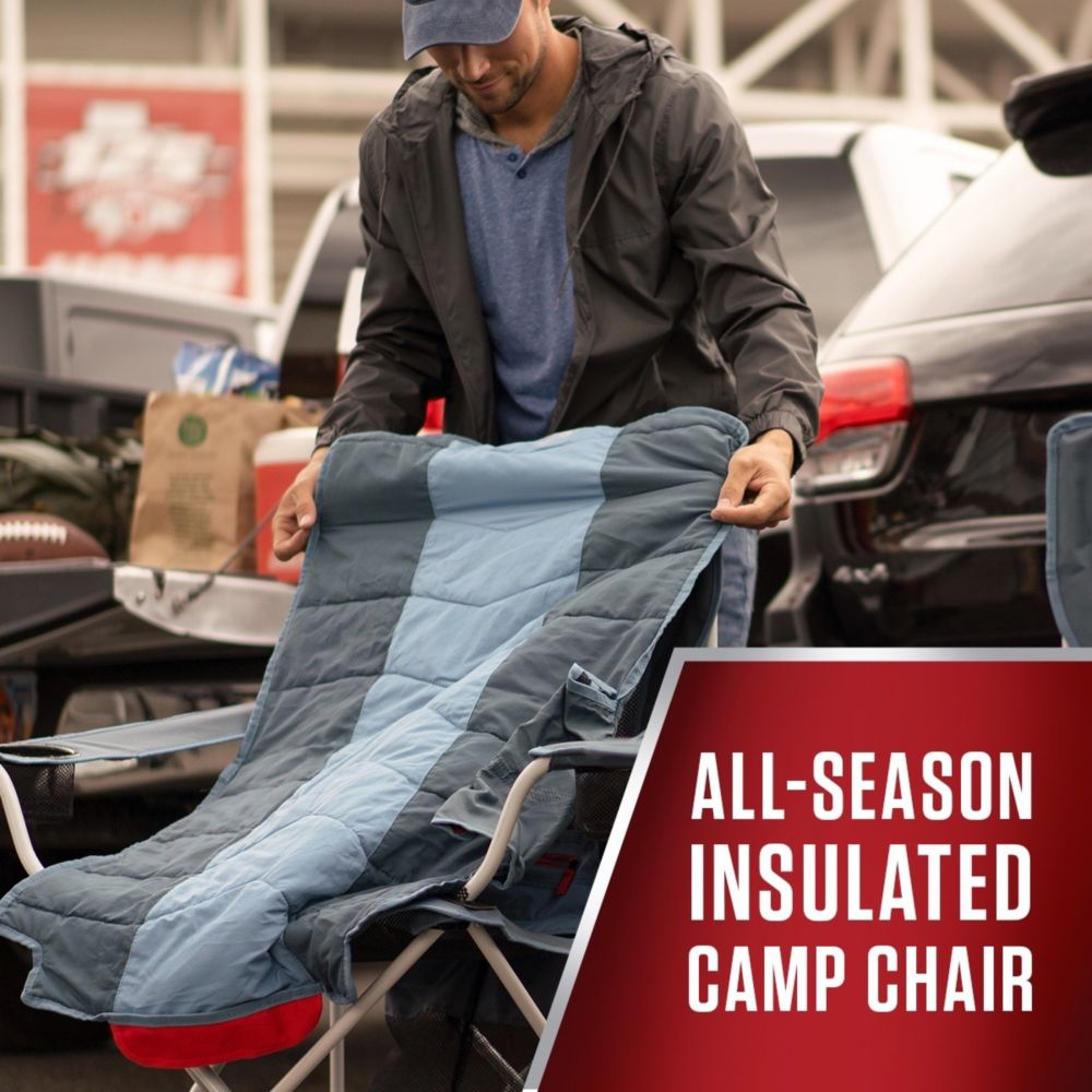 Fabulous All Season Folding Camp Chair With Removable Insulated Cover Inzonedesignstudio Interior Chair Design Inzonedesignstudiocom