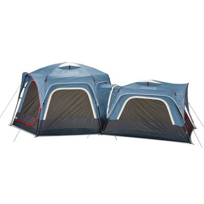 3-Person & 6-Person Connectable Tent Bundle with Fast Pitch Setup, Set of 2, Blue