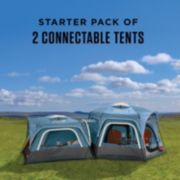 3-Person & 6-Person Connectable Tent Bundle with Fast Pitch Setup, Set of 2, Blue image 2