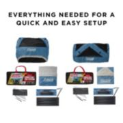 3-Person & 6-Person Connectable Tent Bundle with Fast Pitch Setup, Set of 2, Blue image 7