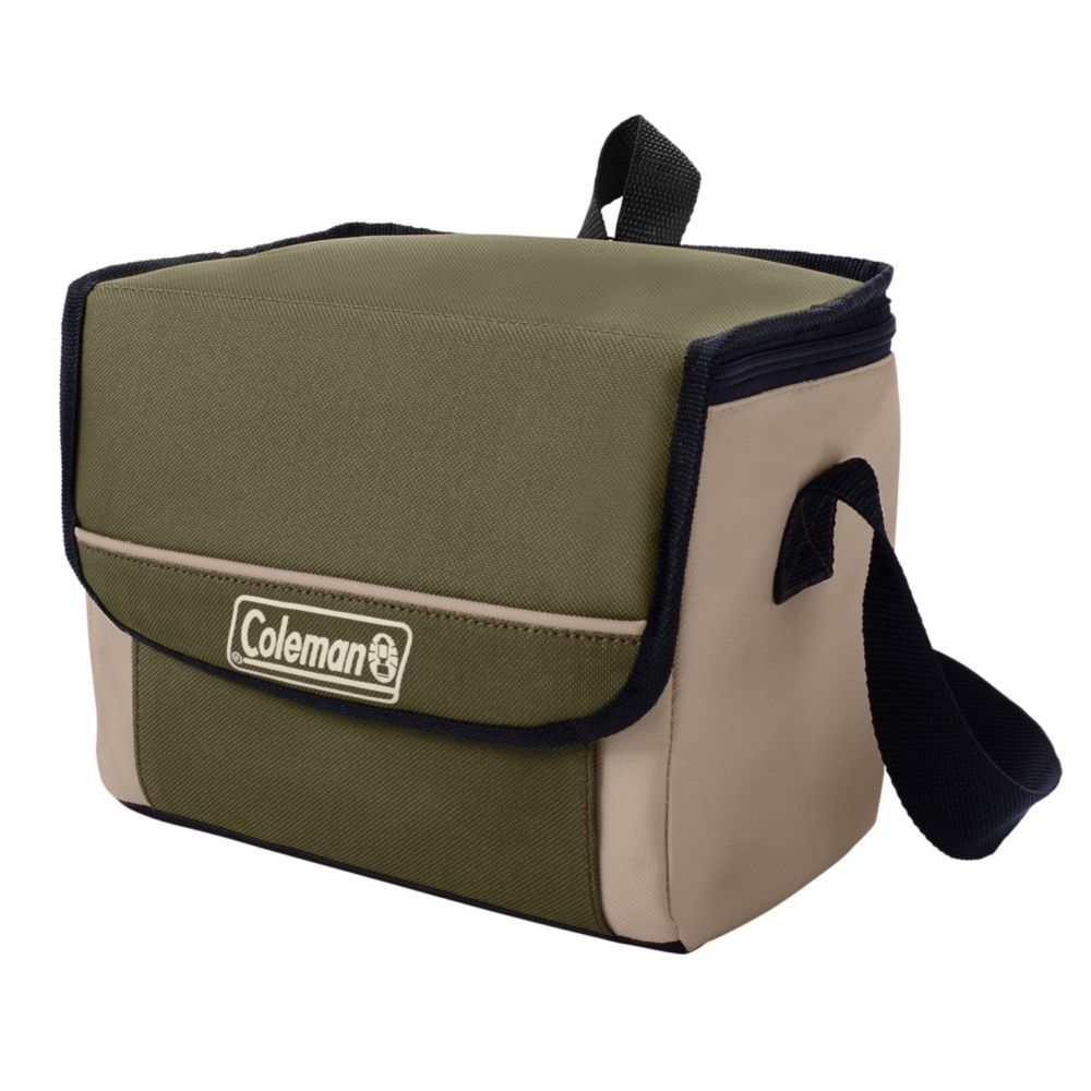9-Can Collapsible Soft-Sided Cooler Bag with 16-Hour Ice Retention, Olive Leaf