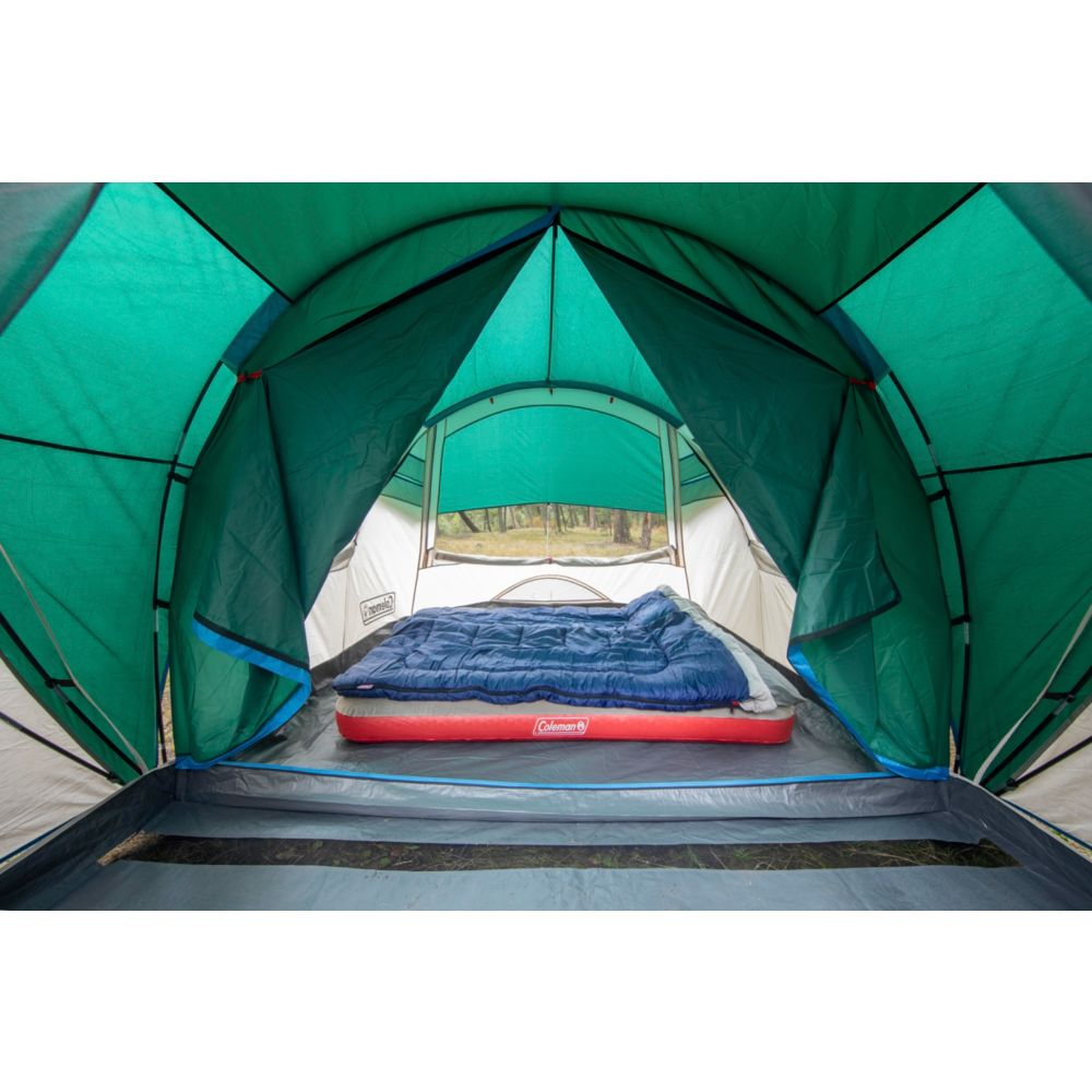 4 Person Cabin Camping Tent With Enclosed Weatherproof Screen Room Coleman