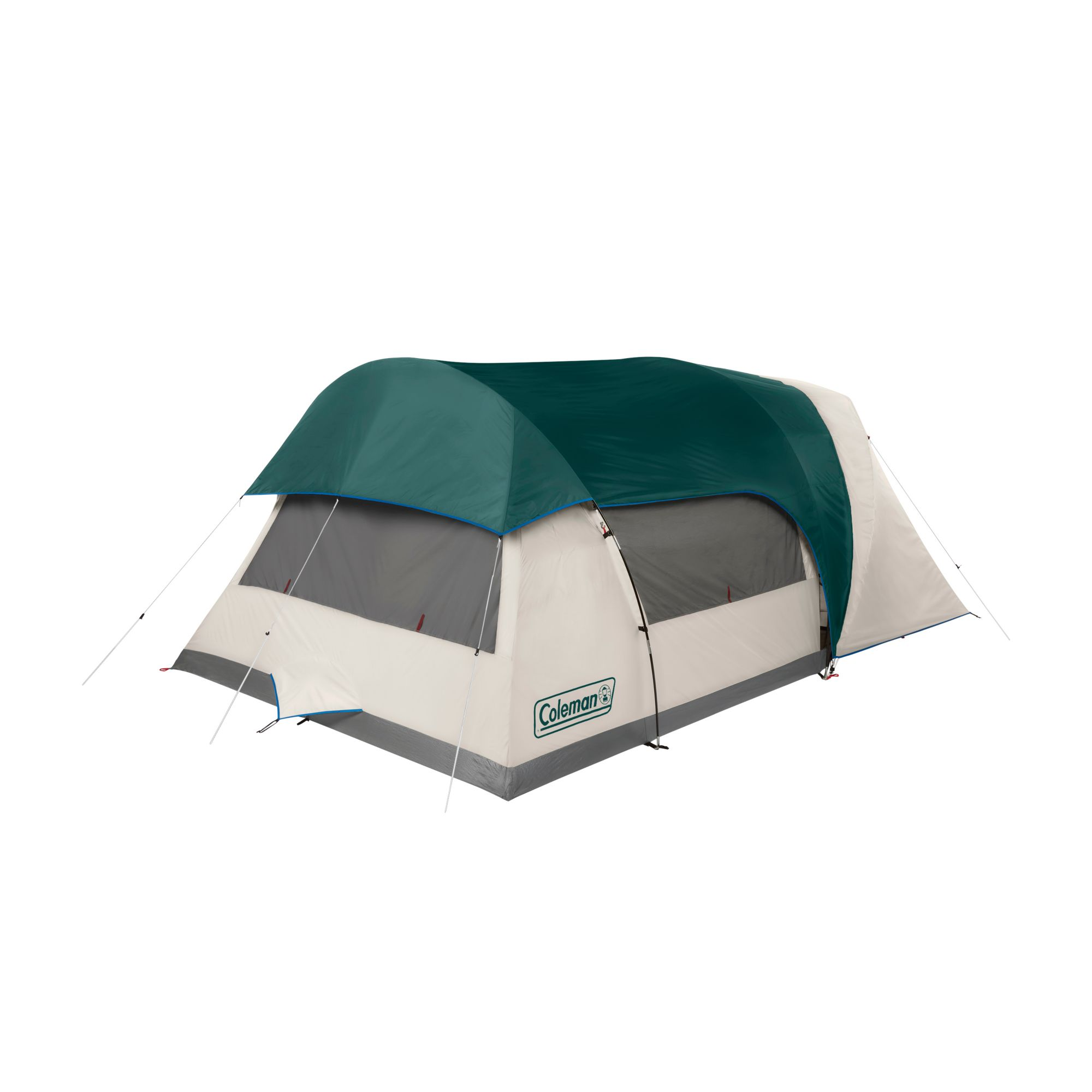 6 Person Cabin Camping Tent With Enclosed Weatherproof Screen Room Coleman