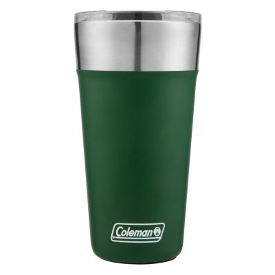 Insulated Stainless Steel Brew Tumbler with Slidable Lid, 20oz, Heritage Green