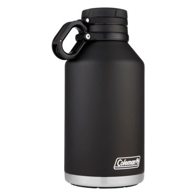 Vacuum Insulated Stainless Steel Growler, 64oz/1900mL, Black