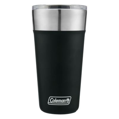 Insulated Stainless Steel Brew Tumbler With Slidable Lid, Black