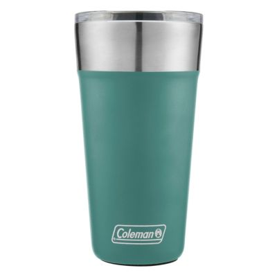Insulated Stainless Steel Brew Tumbler With Slidable Lid, Seafoam