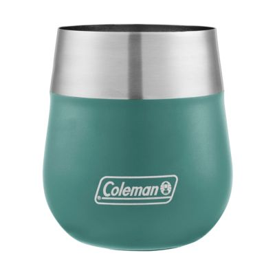 Claret Insulated Stainless Steel Wine Glass, Seafoam