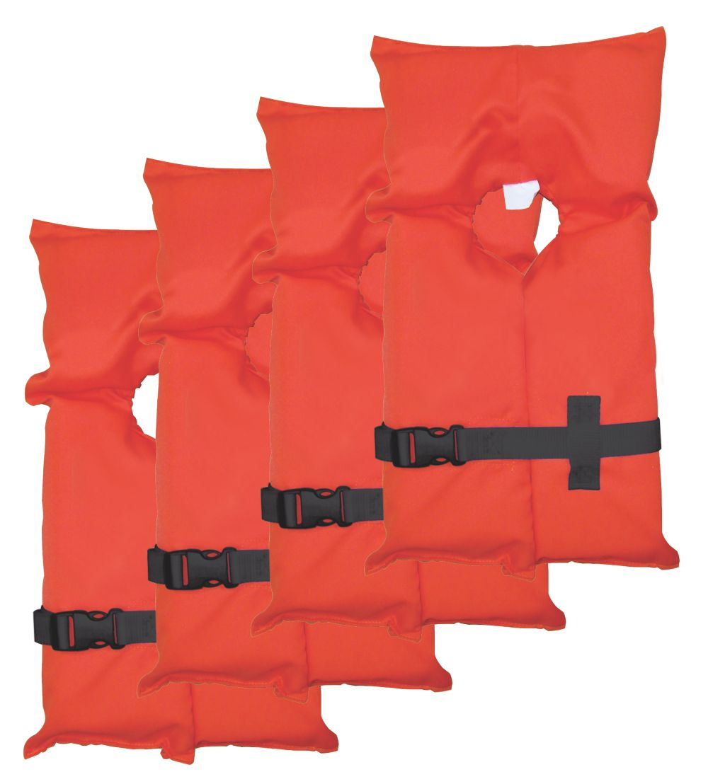 Adult Type II Life Jacket 4-Pack