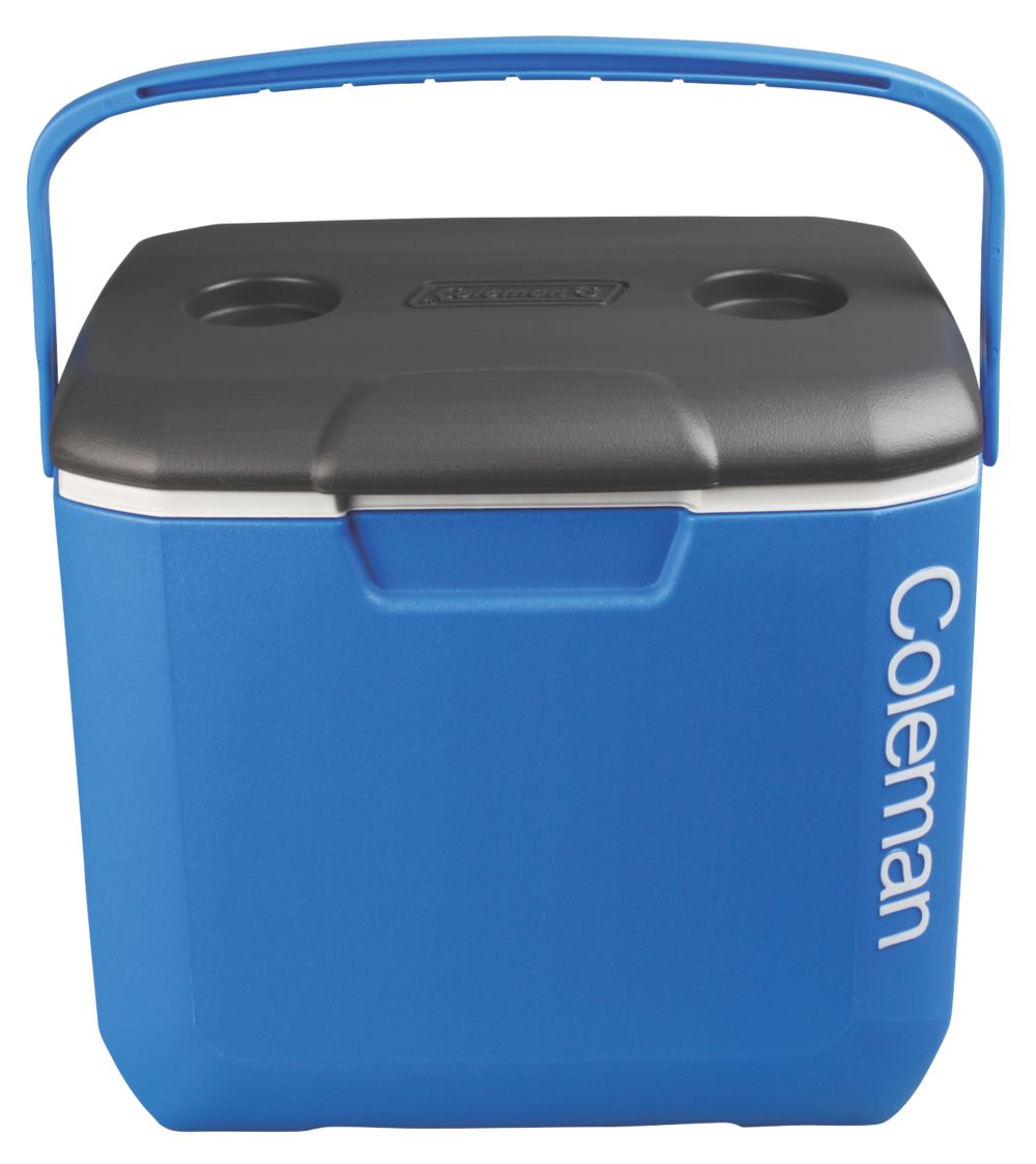 30 QT COOLER -  BLUE/WHITE/DARK GREY