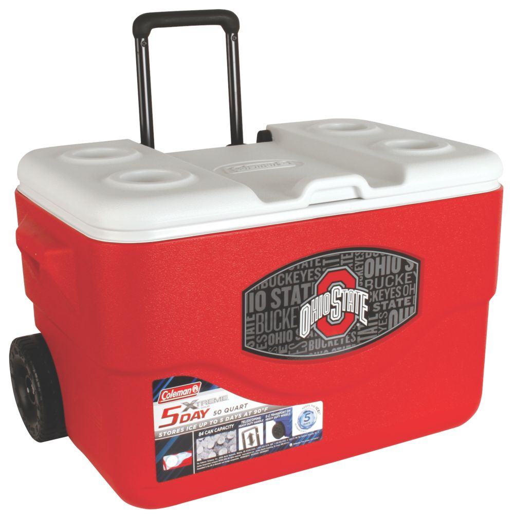 50 Qt Xtreme® Wheeled Cooler - Ohio State