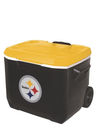 60 Quart Performance Wheeled Cooler - Pittsburgh Steelers