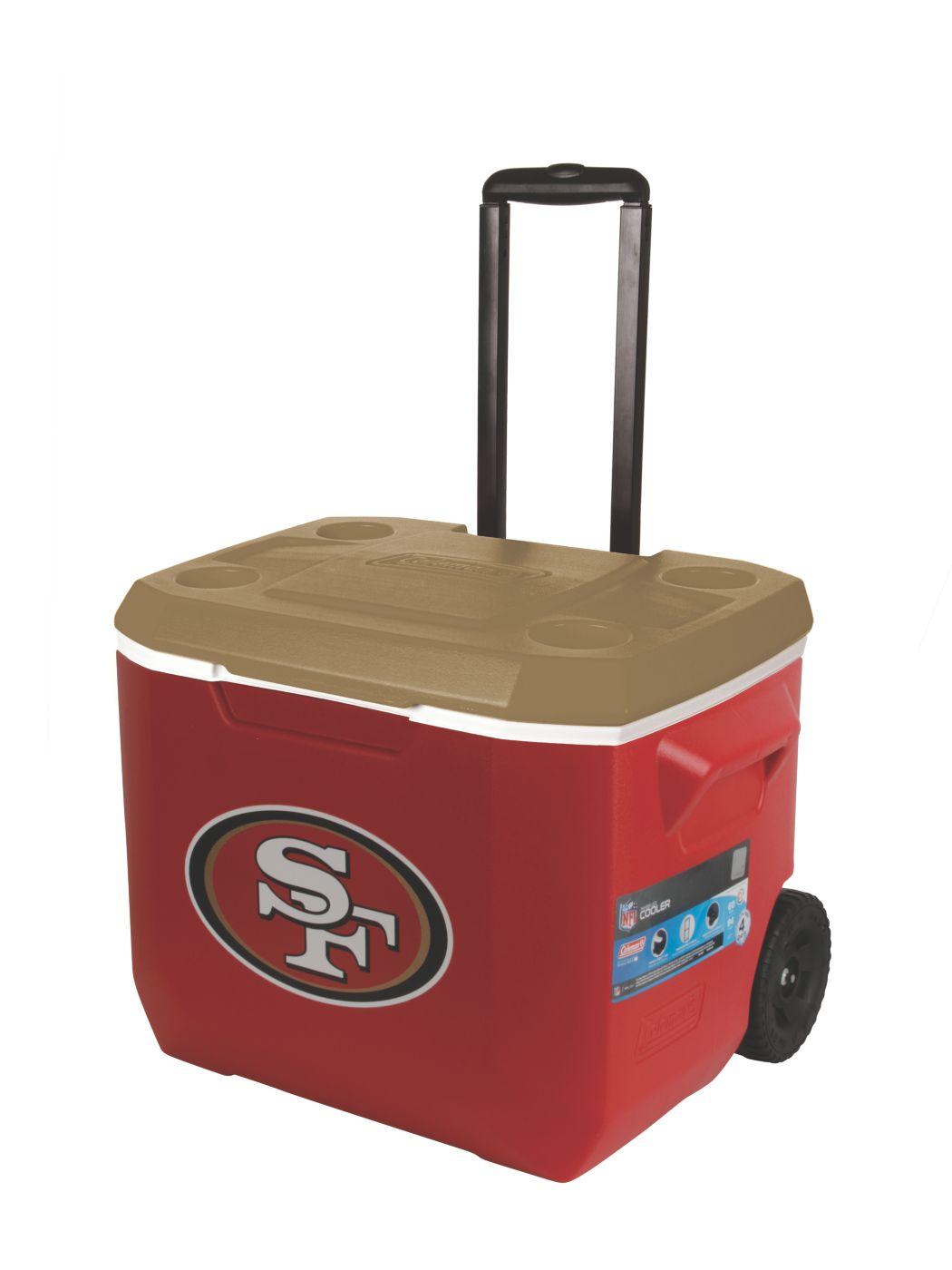 60 Quart Performance Wheeled Cooler - San Franscisco 49ers  sc 1 st  Coleman & 60 Quart Performance Wheeled Cooler - San Franscisco 49ers - USA