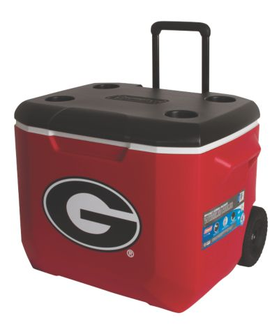60 Quart Performance Wheeled Cooler - Georgia Bulldogs