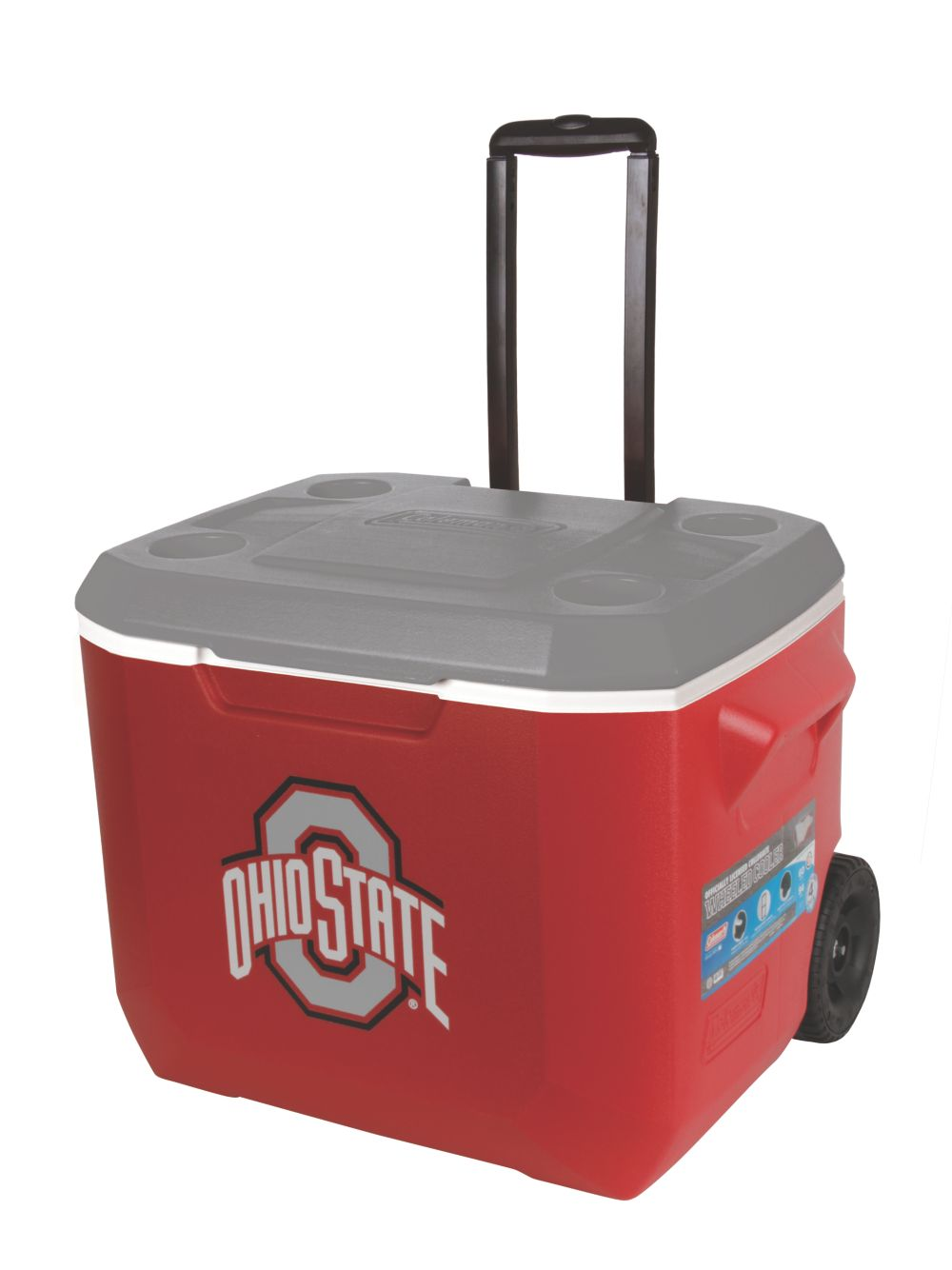 60 Quart Performance Wheeled Cooler - Ohio State Buckeyes