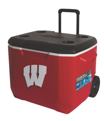 60 Quart Performance Wheeled Cooler - Wisconsin Badgers