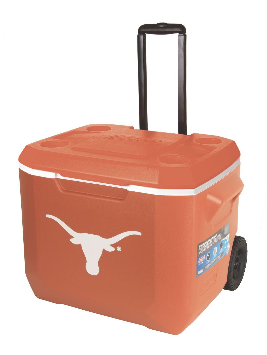 60 quart performance wheeled cooler texas longhorns