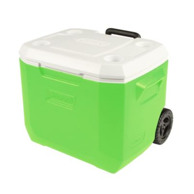 50-Quart Xtreme 5-Day Heavy-Duty Cooler with Wheels, Green & White