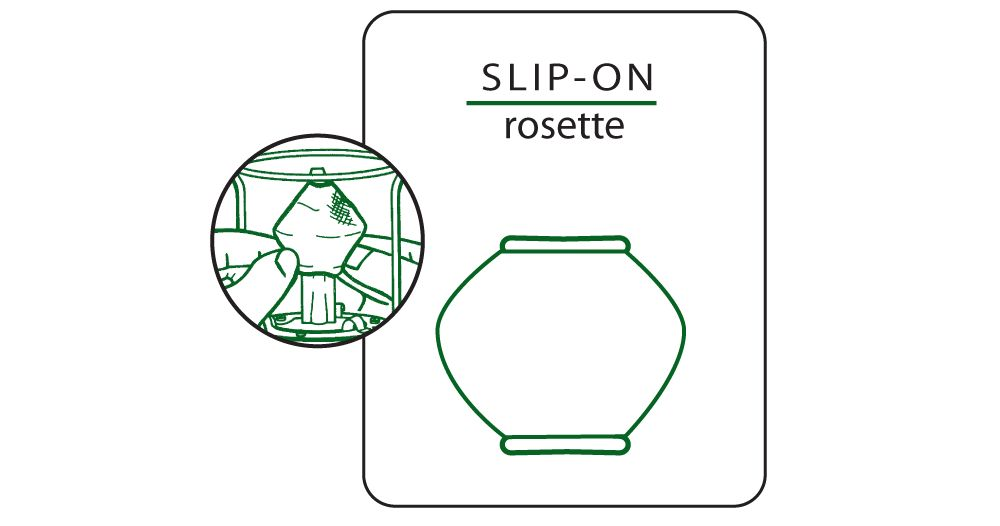 # 51 Slip-on Rosette Mantle