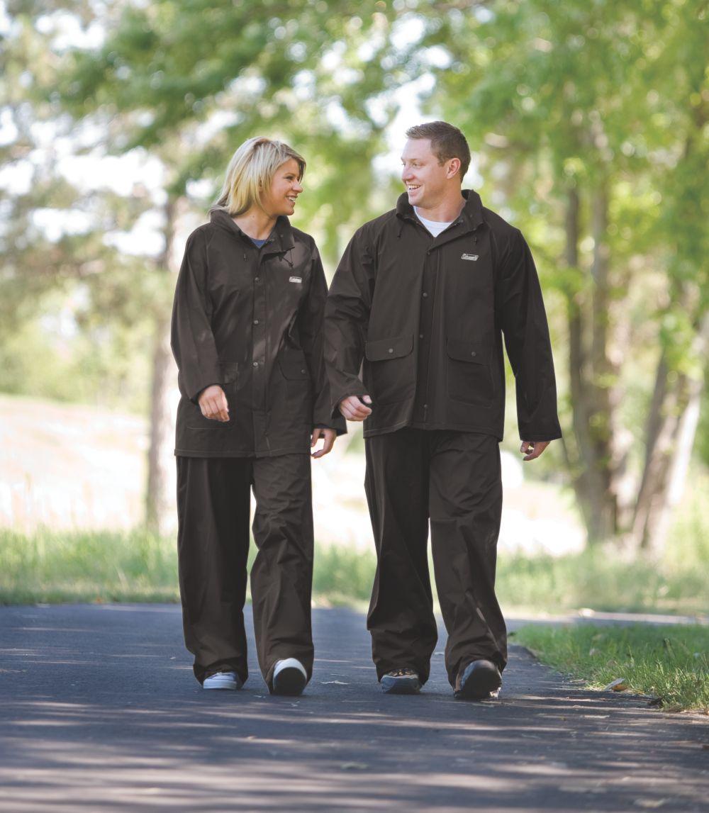 Coleman® PVC/Polyester Rainsuit Black