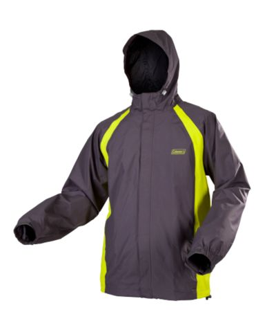 Coleman® Mens Nylon Rain Jacket Grey