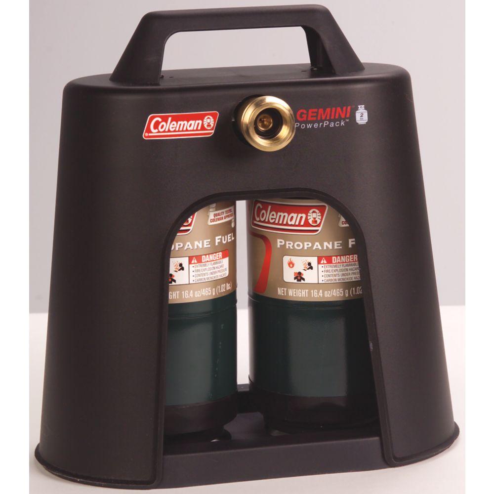 Hook up coleman stove large propane tank