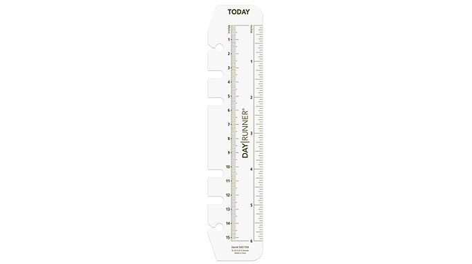 Day Runner Planner Page Marker-Ruler Size 3  (043-104)