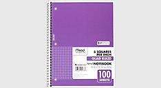 Spiral Quad Ruled Notebook (Item # 05676)