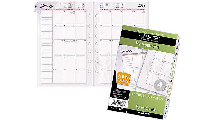 AT-A-GLANCE Day Runner Nature Monthly Planner Refill Size 4  (061-685)