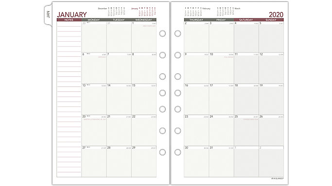 picture relating to Planner Refills known as AT-A-Search Working day Runner Month to month Planner Refill Dimensions 4