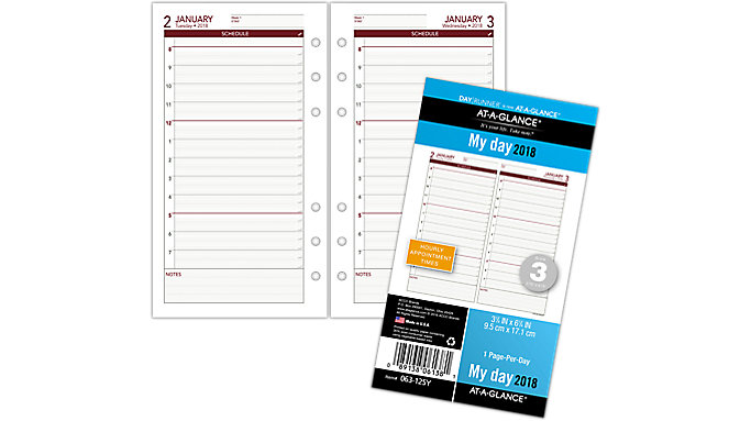 AT-A-GLANCE Day Runner Daily Planner Refill - Size 3  (063-125Y)