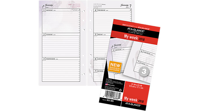 AT-A-GLANCE Day Runner Nature Weekly Planner Refill Size 3  (063-385)