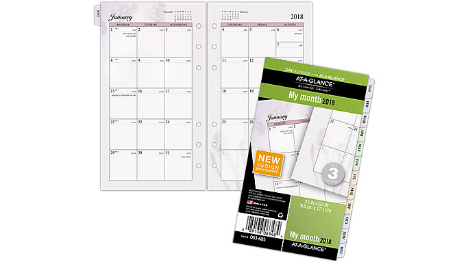 AT-A-GLANCE Day Runner Nature Monthly Planner Refill Size 3  (063-685)
