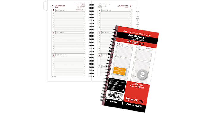AT-A-GLANCE Day Runner Weekly Planner Refill Size 2  (064-287)