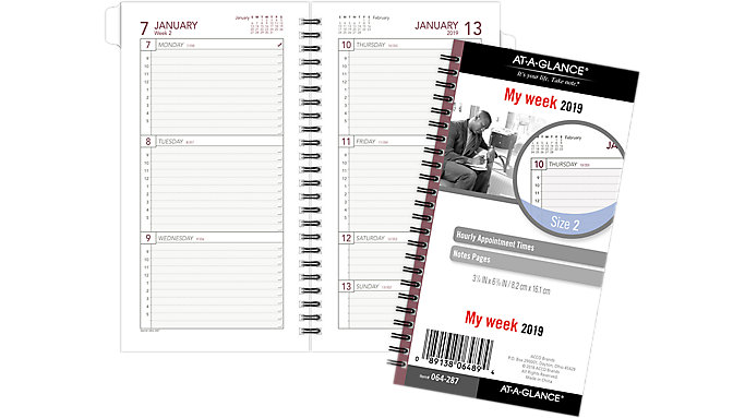 weekly planner refill size 2 064 287 at a glance day runner