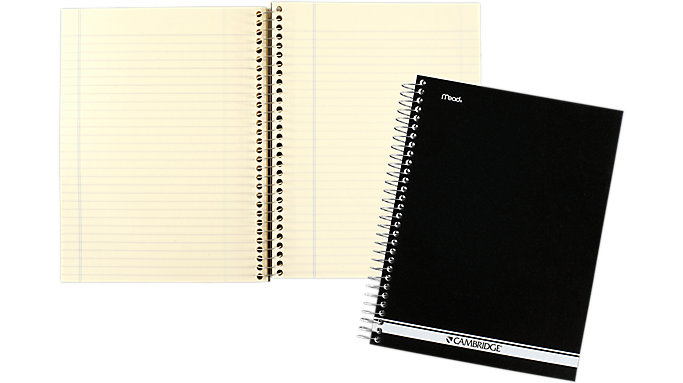 Mead Cambridge Poly Wire Bound Notebook  (06704)