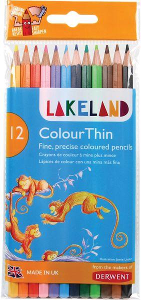 Derwent Lakeland Colourthin 12 Colour Pencils Set - Derwent