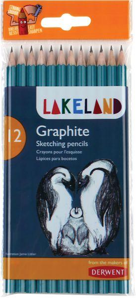 Derwent Lakeland Graphite 12 Sketching Pencils Set - Derwent