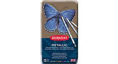 Metallic 12 Watersoluble Pencils Tin (Item # 0700456)