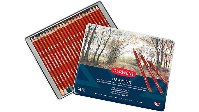 Derwent Drawing 24 Colour Pencils Tin  (0700672)