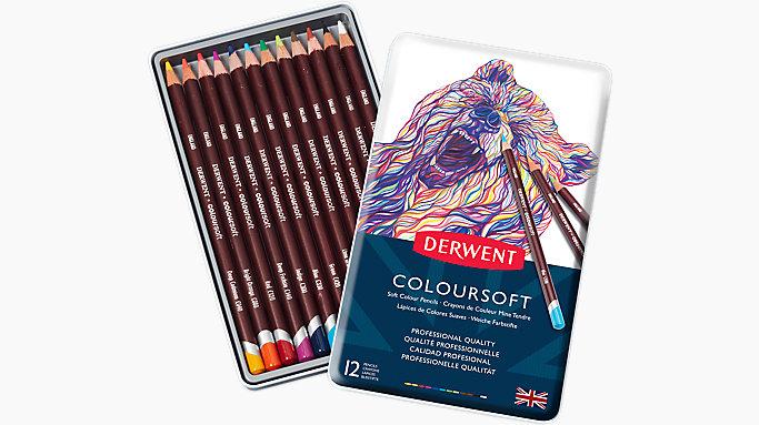 Derwent Coloursoft 12 Colour Pencils Tin 0701026