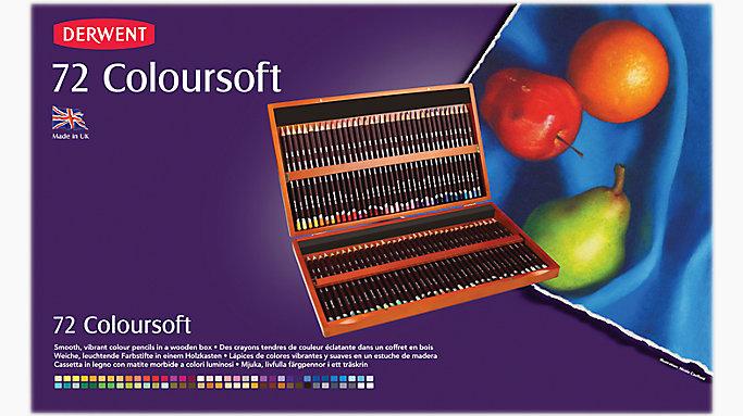 Derwent Coloursoft 72 Colour Pencils Wooden Box Set 0701031