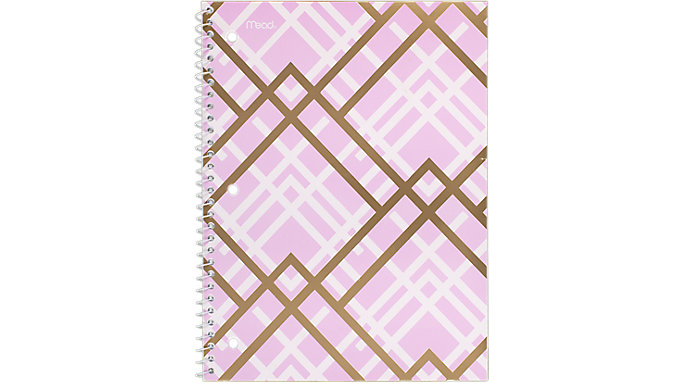 Mead Shape It Up College Ruled Notebook 1 Subject  (07152)