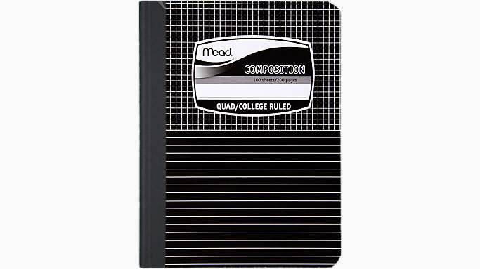 mead black marble graph composition book 09000