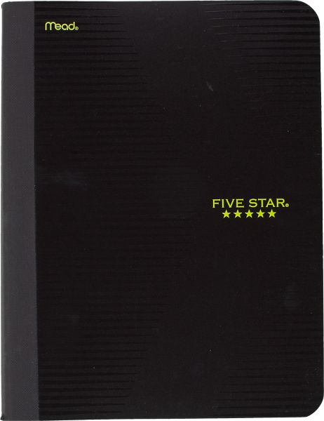 Graphics Plastic Composition Notebook, 09292 By Five Star